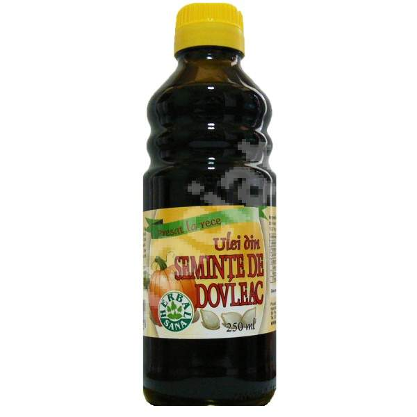 Ulei din semințe de dovleac presat la rece, 250 ml, Herbavit