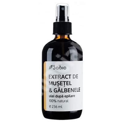 Ulei după epilare cu extract de mușețel și galbenele, 236 ml, Sabio