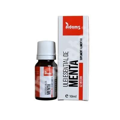 Ulei esential de Menta, 10 ml, uz intern, Adams Vision