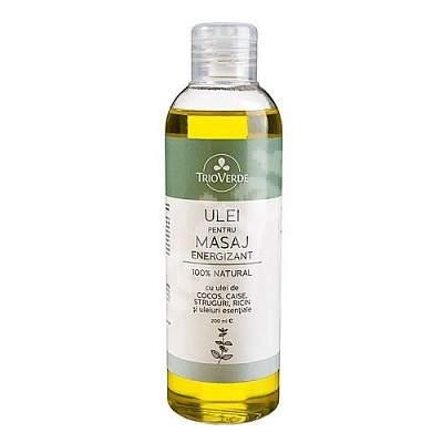 Ulei pentru masaj energizant, 200 ml, Trio Verde