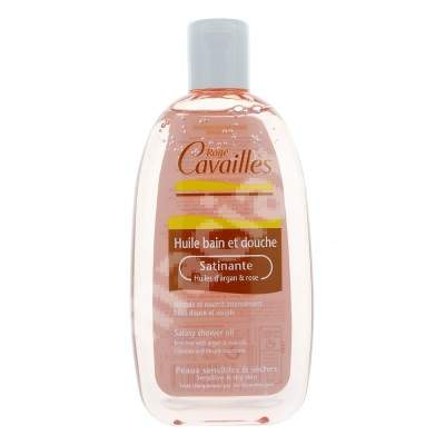 Ulei satinat de baie si dus cu ulei de argan si trandafir, 250 ml, Roge Cavailles