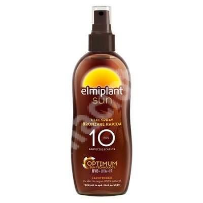 Ulei spray pentru bronzare rapidă SPF 10 Optimum Sun, 150 ml, Elmiplant