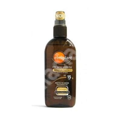 Ulei spray protecție solară și anti-îmbătrânire SPF 15, 150 ml, Elmiplant