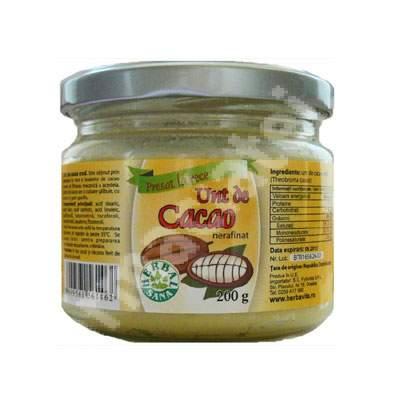 Unt de cacao, 200 g, Herbavit