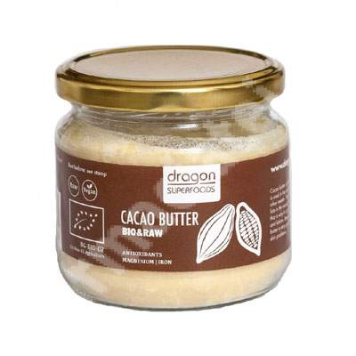 Unt de cacao raw Eco, 100 g, Dragon Superfoods
