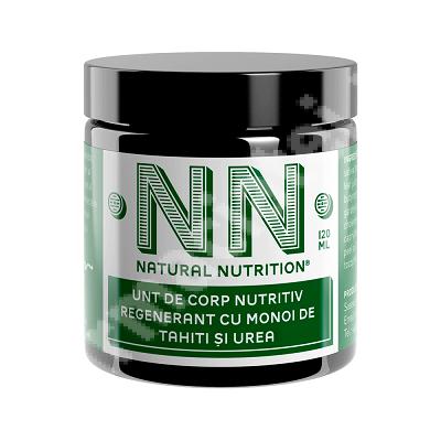 Unt de corp nutritiv regenerant cu monoi de tahiți și urea, 120 ml, NN Cosmetics