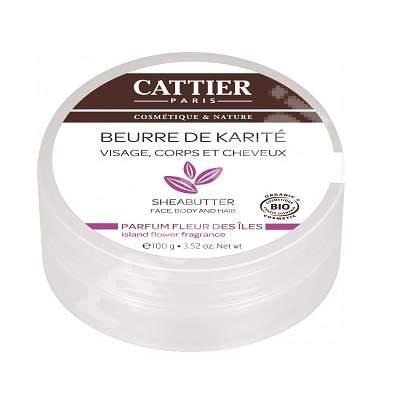 Unt de shea cu parfum de flori salbatice, 100 g, Cattier