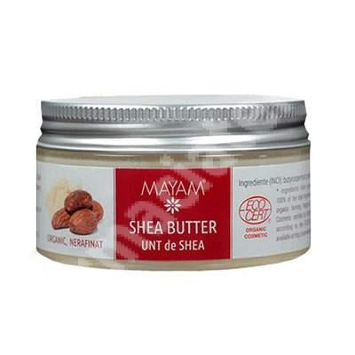 Unt de Shea organic nerafinat 1373, 100 ml, Mayam