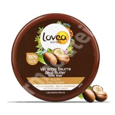 Unt de shea veritabil 100% pur cu vitamina E, 150 ml, Lovea