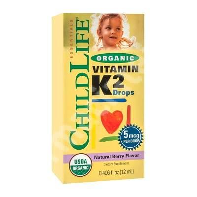 Vitamin K2 pentru copii 15 mcg Childlife Essentials, 12 ml, Secom