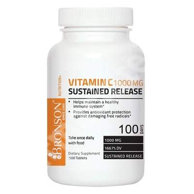 Vitamina C 1000 mg, 100 tablete, Bronson Laboratories