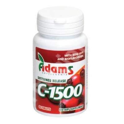 Vitamina C-1500, 30 tablete, Adams Vision