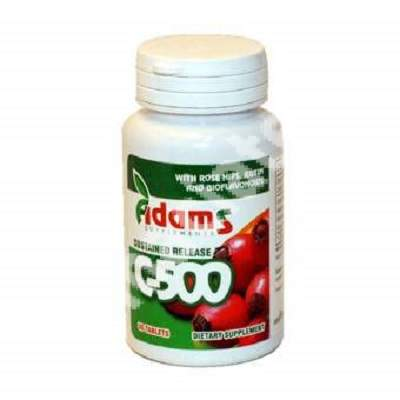 Vitamina C-500 cu Macese, 30 tablete, Adams Vision