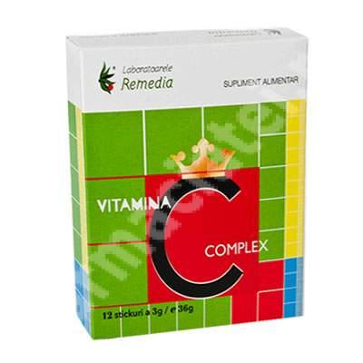 Vitamina C complex, 12 stickuri, Remedia