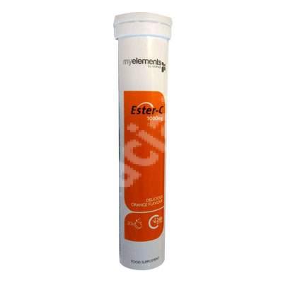 Vitamina C Ester-C 1000mg MyElements, 20 tablete efervescente, Iso Plus Natural