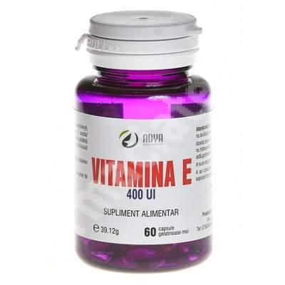 Vitamina E 400 UI, 60 capsule, Adya