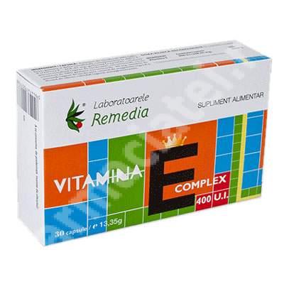 Vitamina E Complex 400UI, 30 capsule, Remedia