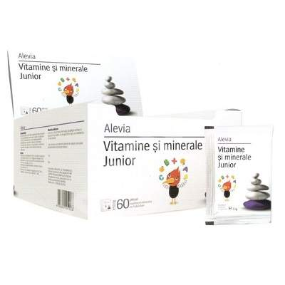 Vitamine si minerale Junior, 60 plicuri, Alevia
