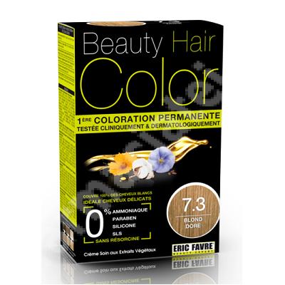 Vopsea de par Blond Dore, Nuanta 7.3, 160 ml, Beauty Hair Color