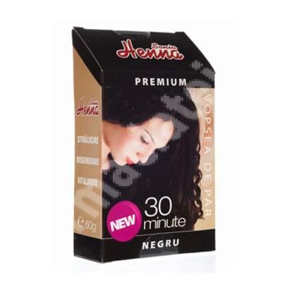 Vopsea de păr cu henna nuanță negru Sonia Henna, 60 g, Kian Cosmetics
