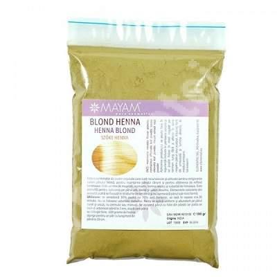 Vopsea de par naturala Henna Blond (M - 1297), 100 g, Mayam