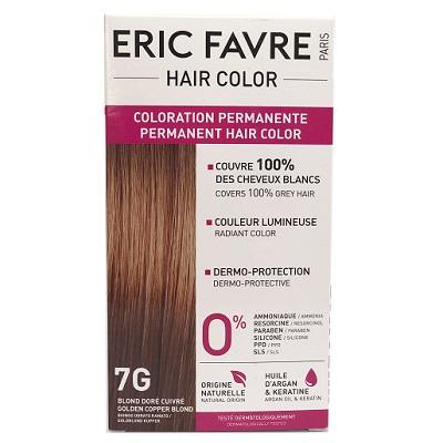 Vopsea de păr Nuanța 7G Golden Copper Blonde, 40 ml, Eric Favre Wellness