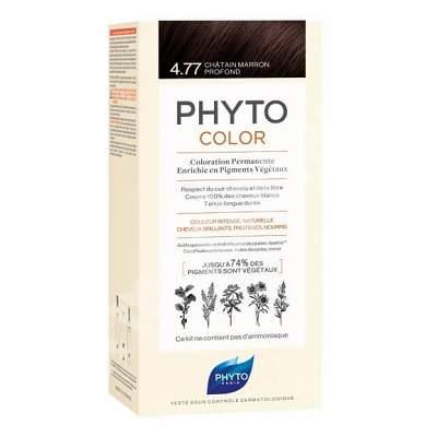 Vopsea permanenta pentru par Nuanta 4.77 Intense Chesetnut Brown, 50 ml, Phyto