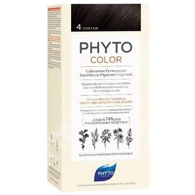 Vopsea permanenta pentru par Nuanta 4 Brown, 50 ml, Phyto