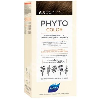 Vopsea permanenta pentru par Nuanta 5.3 Light Golden Brown, 50 ml, Phyto