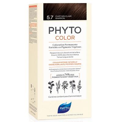 Vopsea permanentă pentru păr Nuanța 5.7 Marron, 50 ml, Phyto