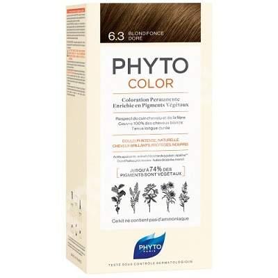 Vopsea permanenta pentru par Nuanta 6.3 Dark Golden Blonde, 50 ml, Phyto