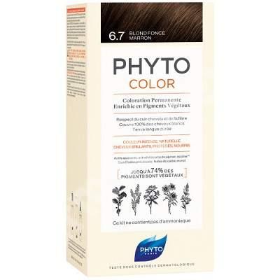 Vopsea permanenta pentru par Nuanta 6.7 Dark Chestnut Blonde, 50 ml, Phyto