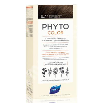 Vopsea permanenta pentru par Nuanta 6.77 Light Brown Cappuccino, 50 ml, Phyto