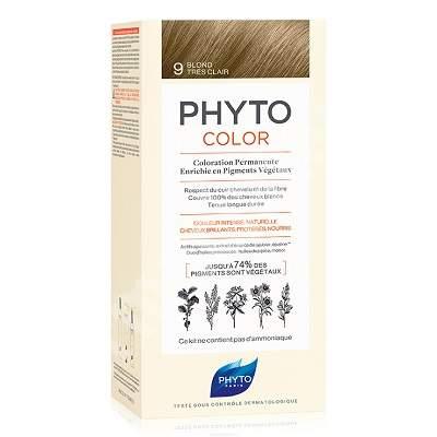 Vopsea permanenta pentru par Nuanta 9 Very Light Blonde, 50 ml, Phyto