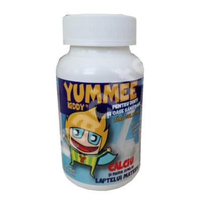 Yummee Kiddy pentru dinti sanatosi cu calciu si fosfor, 60 jeleuri, Farmex Company