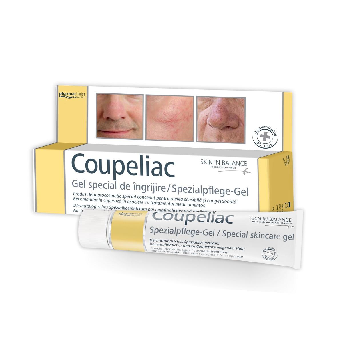 Gel pentru pielea sensibilă și congestionantă Coupeliac, 20 ml, Pharmatheiss Cosmetics