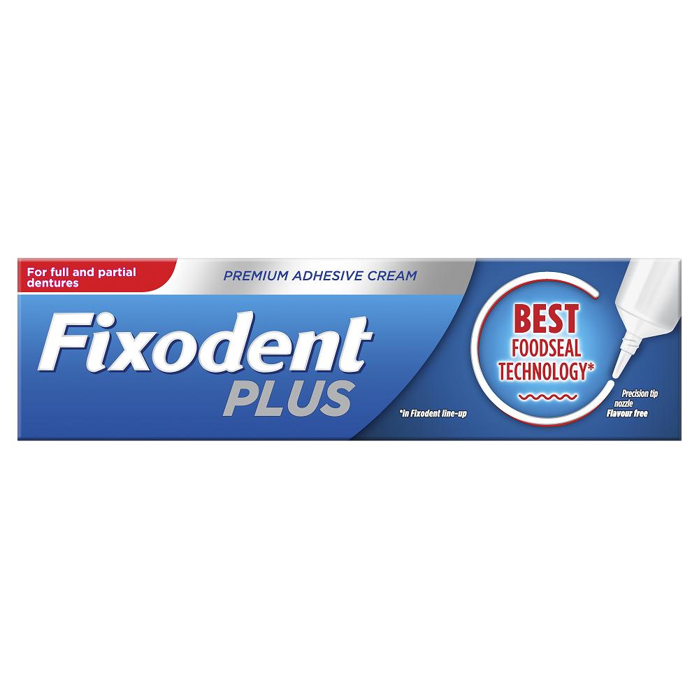 Crema adeziva pentru proteza dentara Food Seal, 40 g, Fixodent Plus