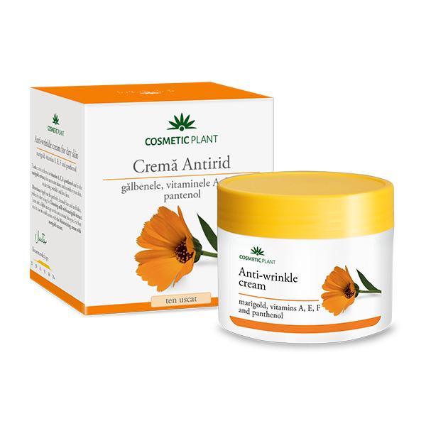Crema antirid cu galbenele si vitaminele A, E, F si pantenol, 50 ml, Cosmetic Plant
