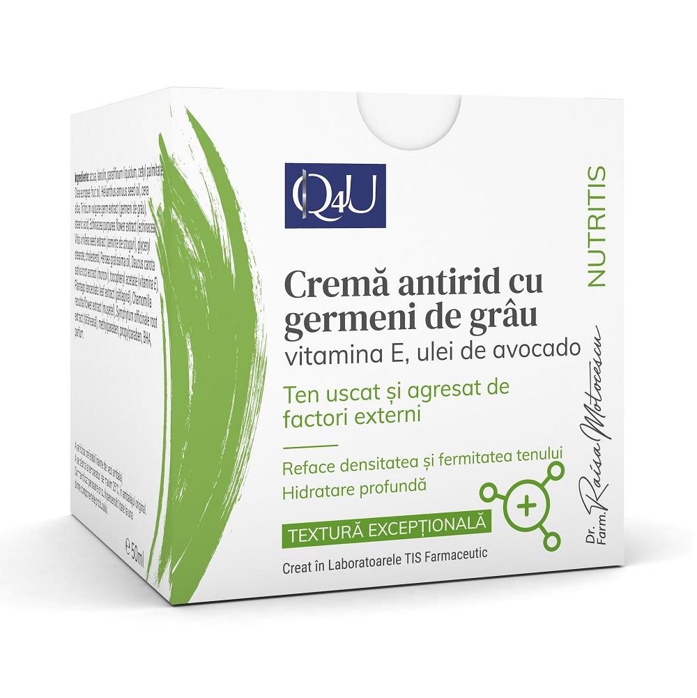 Cremă antirid cu germeni de grâu Nutritis Q4U, 50 ml, Tis Farmaceutic
