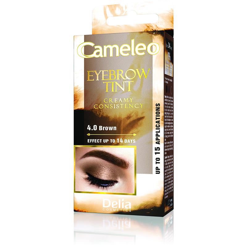 Crema coloranta pentru sprancene nuanta Brown, 15 ml, Delia Cosmetics
