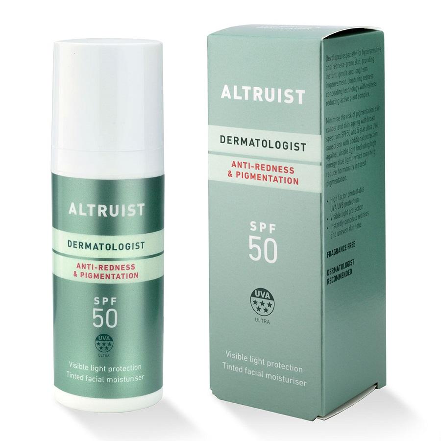 Crema colorata anti-roseata si anti-pete cu protectie solara SPF 50, 50 ml, Altruist