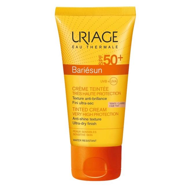 Cremă colorată protecție solară SPF 50+ Bariesun, nuanță Fair, 50 ml, Uriage