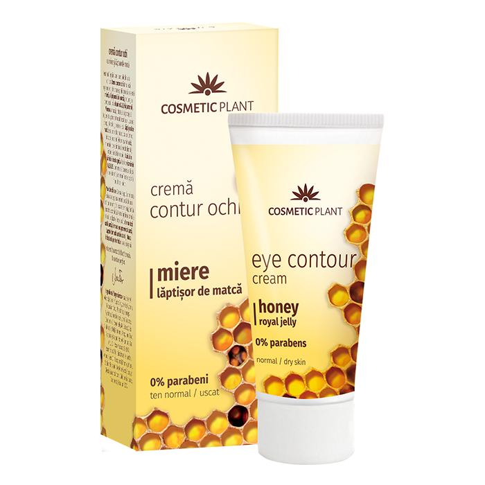Crema contur ochi cu miere si laptisor de matca, 30 ml, Cosmetic Plant
