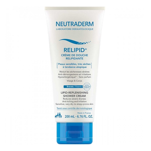 Crema de dus relipidanta Relipid+ Neutraderm, 200 ml, Gilbert