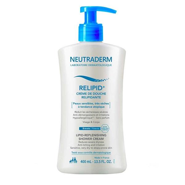 Crema de dus relipidanta Relipid+ Neutraderm, 400 ml, Gilbert