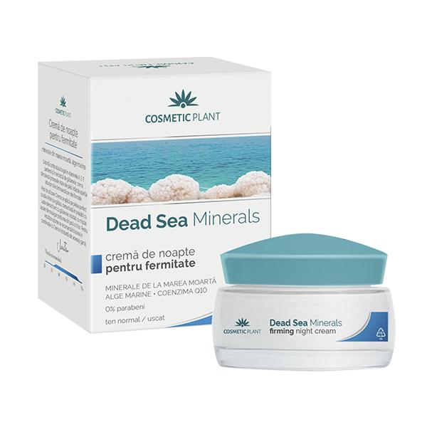 Crema de noapte pentru fermitate cu minerale, alge marine si coenzima Q10 Dead Sea Minerals, 50 ml, Cosmetic Plant