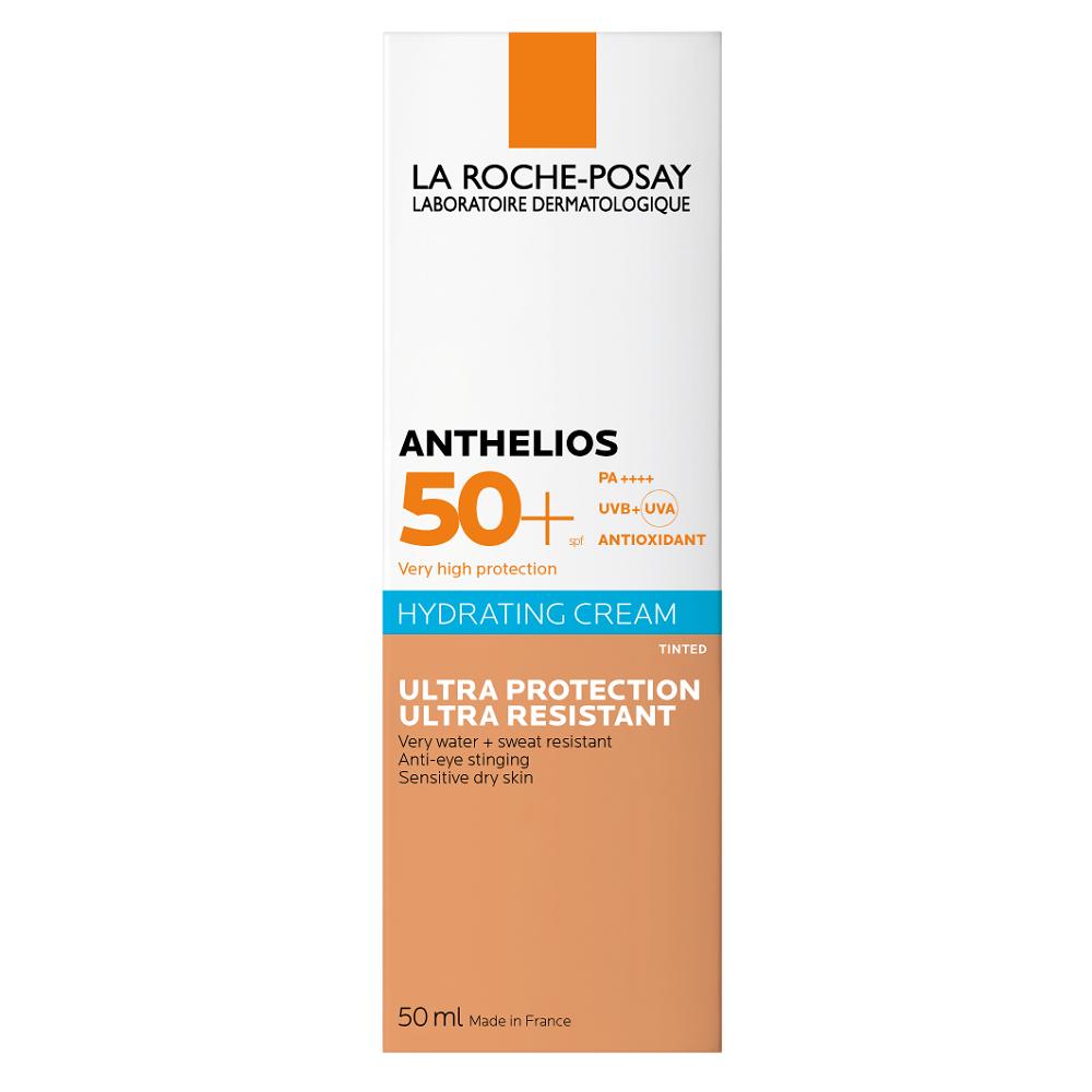 Cremă BB potrivită pentru zona ochilor SPF 50+ Anthelios Ultra Sensitive, 50 ml, La Roche-Posay