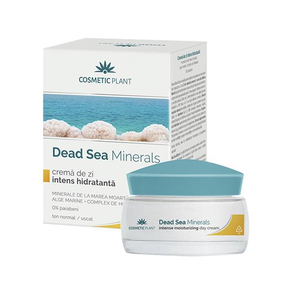 Crema de zi intens hidratanta, alge marine si complex de hidratare Dead Sea Minerals, 50 ml, Cosmetic Plant
