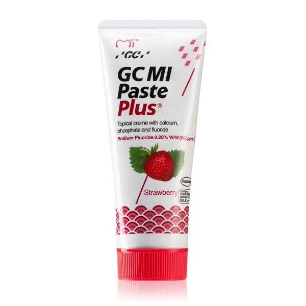 Crema dentara topica pe baza de apa cu aroma de capsuni Mi Paste Plus, 40 g, GC