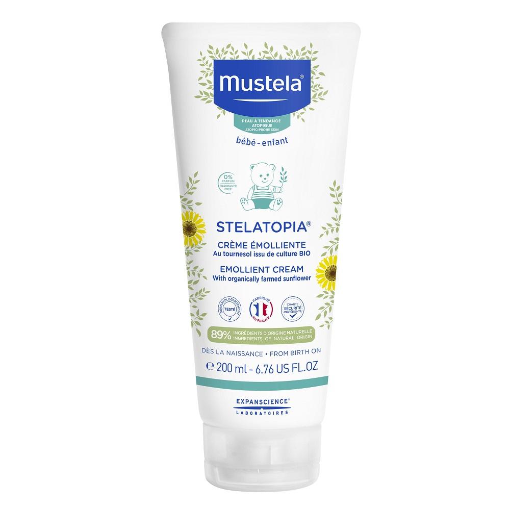 Crema emolianta pentru pielea uscata cu tendinta atopica Stelatopia, 200 ml, Mustela